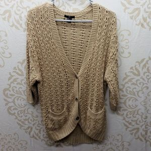 H&M Open Knit Button-Down Cardigan Size Large